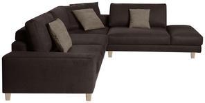 WOHNLANDSCHAFT in Textil Braun  - Schwarz/Braun, Design, Textil/Metall (316/273cm) - Dieter Knoll