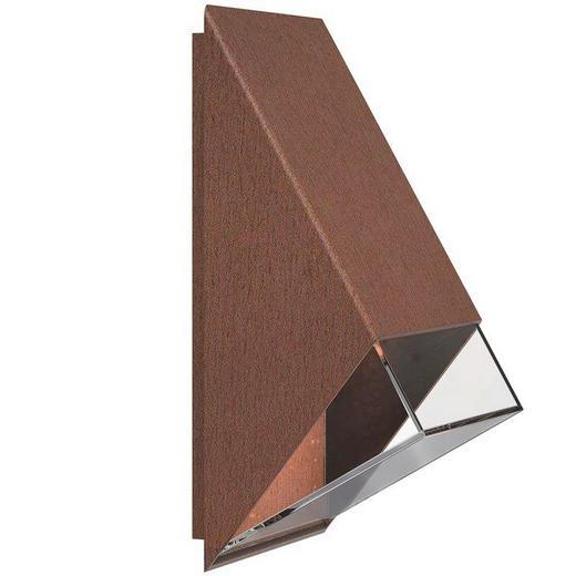 AUßENLEUCHTE Rostfarben - Rostfarben, Design, Kunststoff/Metall (10/20cm)