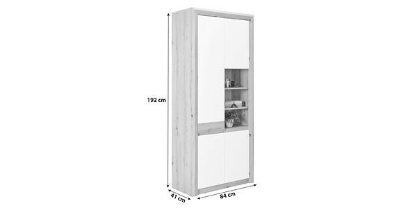 Schuhschrank Kashmir New - Eichefarben/Weiß, MODERN, Holzwerkstoff (84/192/41cm) - James Wood