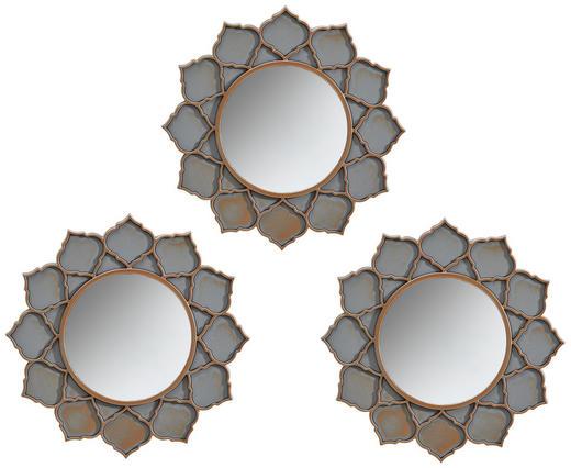 SPIEGEL-SET 3-TLG. Grau - Grau, Kunststoff (25cm)