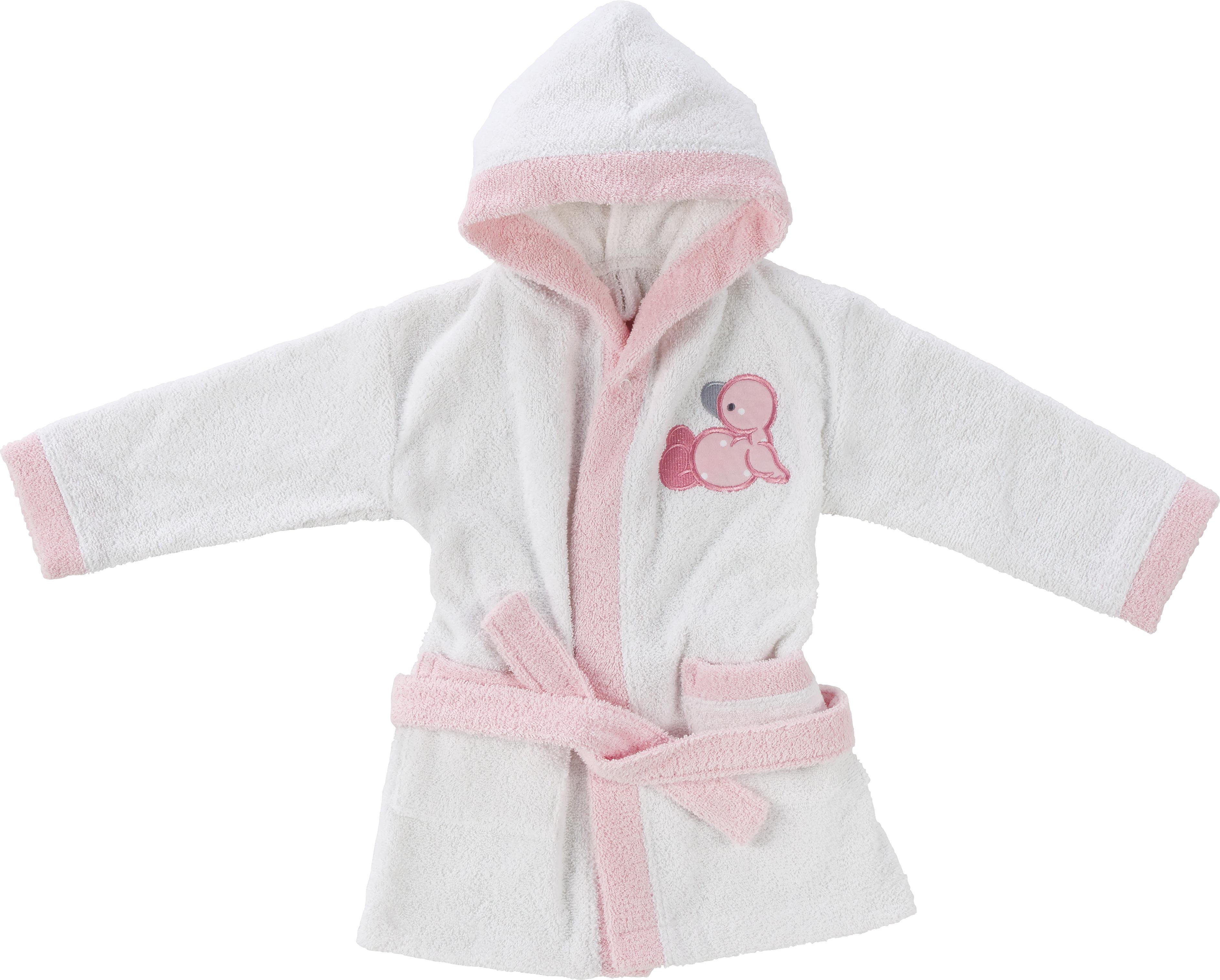 BADROCK FÖR BARN - vit/rosa, Basics, textil (74/80) - My Baby Lou