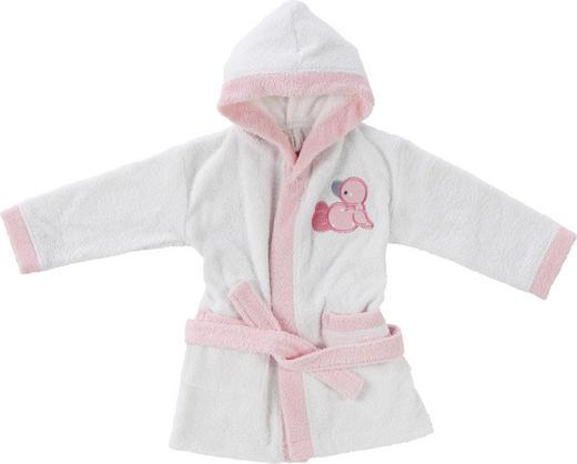 KINDERBADEMANTEL 74/80 - Rosa/Weiß, Basics, Textil (74/80null) - My Baby Lou