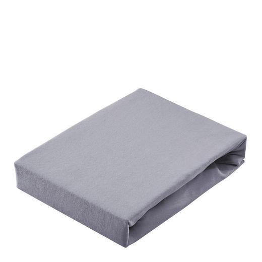 SPANNBETTTUCH Jersey Anthrazit - Anthrazit, Basics, Textil (150/200cm) - Bio:Vio