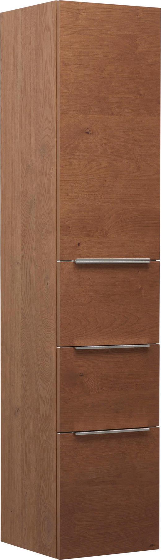 SEITENSCHRANK 35 162,5 37 cm - Eichefarben/Alufarben, Design, Holz/Holzwerkstoff (35 162,5 37cm) - Novel