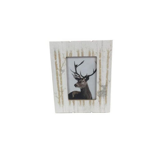 BILDERRAHMEN in Weiß, Pinienfarben - Weiß/Pinienfarben, Basics, Glas/Holz (18,2/23,2/1,2cm) - Ambia Home