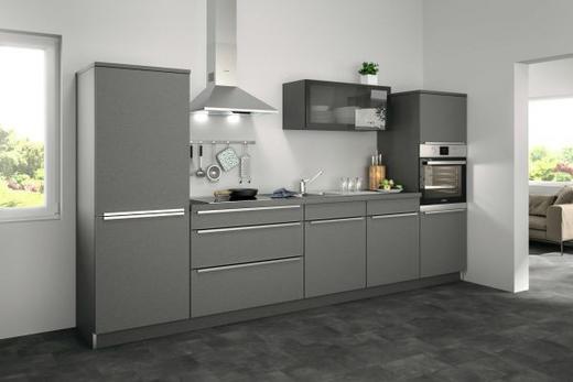 Küchenblock ohne E-Geräte 330 cm - Grau, MODERN (330cm) - Set one by Musterrin