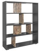 RAUMTEILER Strukturlack, Wasserlack Braun, Schwarz - Schwarz/Braun, Design, Holzwerkstoff/Kunststoff (120/146/31cm) - Carryhome