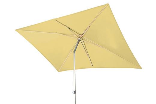 SONNENSCHIRM 200x250 cm Gelb - Gelb/Silberfarben, KONVENTIONELL, Textil/Metall (250/200cm) - Doppler