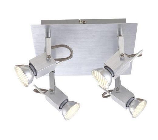 LED-DECKENLEUCHTE - Alufarben, KONVENTIONELL, Metall (22/22/12cm)