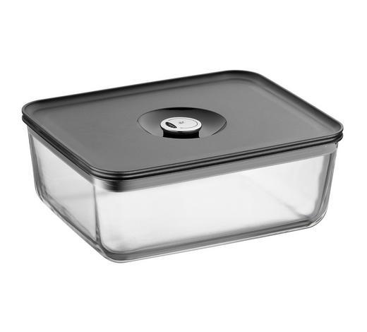 FRISCHHALTEDOSE 3 L  - Klar/Anthrazit, Design, Glas/Kunststoff (26/21/10cm) - WMF