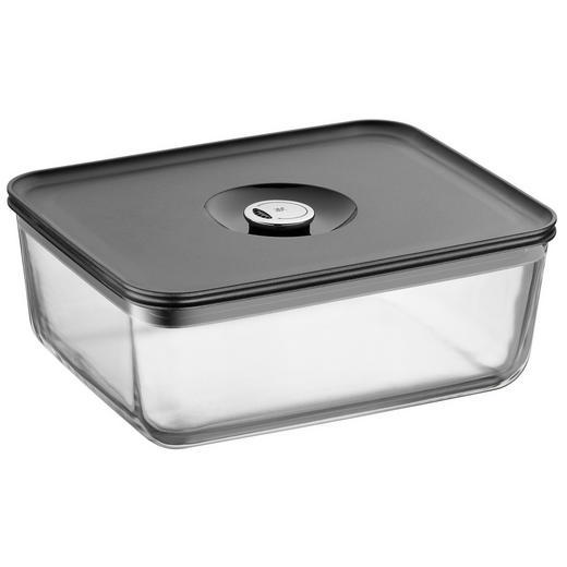 FRISCHHALTEDOSE 3 L - Klar/Grau, Basics, Glas/Kunststoff (26/21/10cm) - WMF