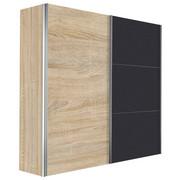 SKŘÍŇ S POSUVNÝMI DVEŘMI, barvy grafitu, barvy dubu - barvy dubu/barvy grafitu, Design, kov/kompozitní dřevo (250/216/68cm) - Hom`in