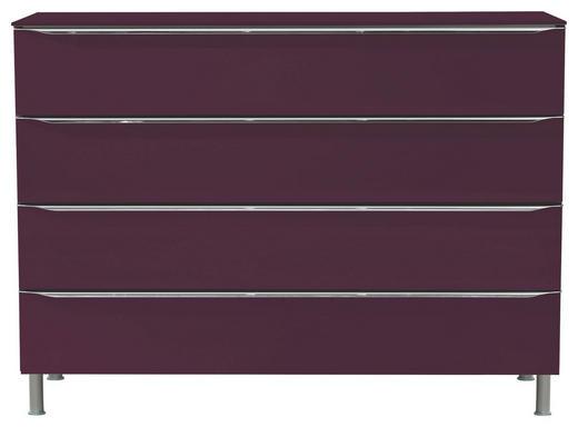 KOMMODE Violett - Violett/Alufarben, Design, Glas/Metall (120/87,6/40,4cm) - Hülsta