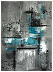 WEBTEPPICH  - Petrol/Grau, KONVENTIONELL, Textil (80/150cm) - Boxxx