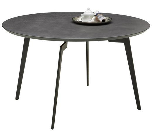ESSTISCH in Metall, Holzwerkstoff  125/75 cm - Grau, Design, Holzwerkstoff/Metall (125/75cm) - Joop!