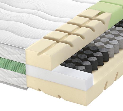 Partnermatratze Taschenfeder ROAD 290 TFK COMFEEL PLUS 200/200 cm - Weiß, Basics, Textil (200/200cm) - Schlaraffia