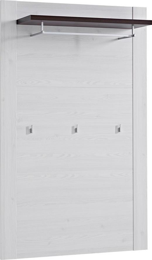 GARDEROBENPANEEL Weiß, Dunkelbraun, Lärchefarben - Dunkelbraun/Lärchefarben, Design (96/153/30cm) - Carryhome