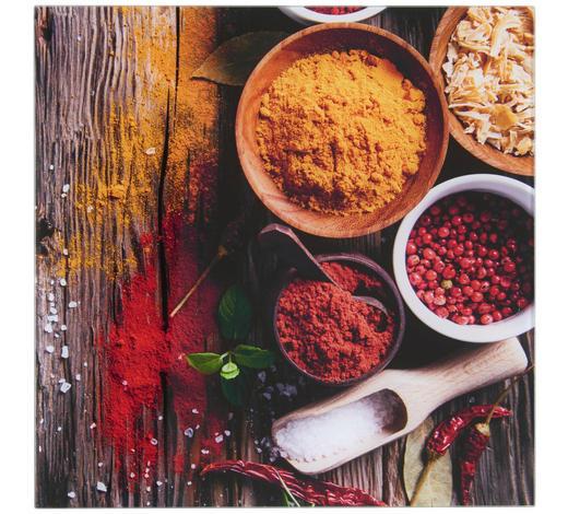OBRAZ SKLENĚNÝ, jídlo & pití, 30/30 cm,  - vícebarevná, Basics, kov/sklo (30/30cm) - Monee