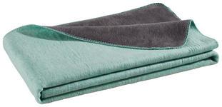 WOHNDECKE 150/200 cm Dunkelgrau, Mintgrün  - Dunkelgrau/Mintgrün, Basics, Textil (150/200cm) - Novel