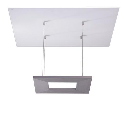 DECKENLEUCHTE - Alufarben, LIFESTYLE, Glas/Metall (60/60/40cm)