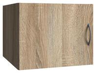 AUFSATZSCHRANK in Eichefarben   - Eichefarben/Alufarben, KONVENTIONELL, Holzwerkstoff/Kunststoff (40/40/54cm) - Xora