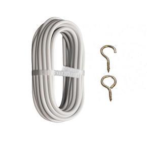 gardinspiral - vit, Basics, metall/plast (500cm)