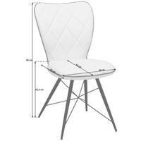 STOLICA - bijela/siva, Design, metal/tekstil (49/90/61cm) - Hom`in