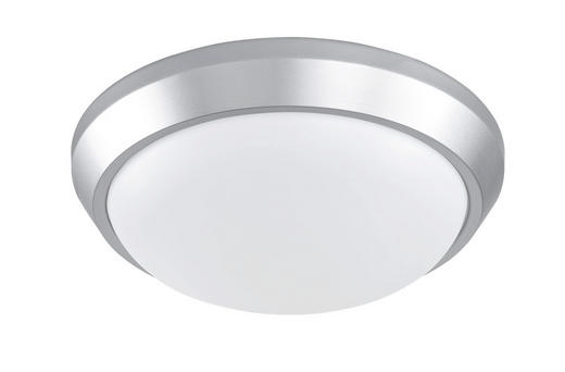 LED-DECKENLEUCHTE - Silberfarben, Design, Kunststoff/Metall (28 7,7 cm)