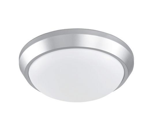 LED-DECKENLEUCHTE - Silberfarben, Design, Kunststoff/Metall (28/7,7cm)