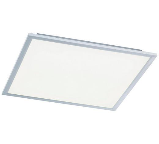 LED-DECKENLEUCHTE - Silberfarben, Design, Kunststoff/Metall (60/60/5,5cm)