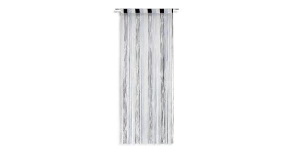 Fadenvorhang Stangendurchzug Rita B: 90cm Grau/Schwarz/Weiß - Multicolor/Schwarz, KONVENTIONELL, Textil (90/245cm) - Luca Bessoni