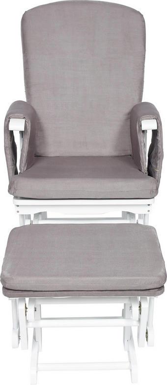 KŘESLO KOJICÍ - bílá/šedá, Lifestyle, dřevo/textil (73/56/101cm) - My Baby Lou