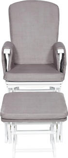 STILLSTUHL Grau, Weiß - Weiß/Grau, Basics, Holz/Textil (73/56/101cm) - My Baby Lou