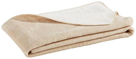 WOHNDECKE 150/200 cm Creme, Weiß - Creme/Weiß, Basics, Textil (150/200cm) - Novel