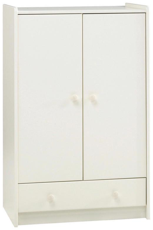 KLEIDERSCHRANK 2  -türig Weiß - Weiß, Design, Holz (79/123/54cm) - Carryhome