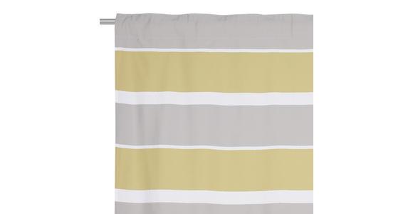 FERTIGVORHANG blickdicht  - Gelb/Weiß, KONVENTIONELL, Textil (140/245cm) - Esposa