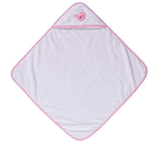 KAPUZENBADETUCH - Rosa/Weiß, Basics, Textil (100/100cm) - My Baby Lou