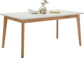 MATBORD - vit/ekfärgad, Design, trä/träbaserade material (160/90/75cm) - Hom`in
