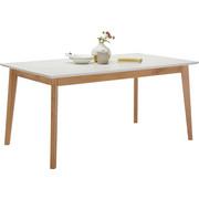 ESSTISCH in Eiche Eichefarben, Weiß - Eichefarben/Weiß, Design, Holz/Holzwerkstoff (160/90/75cm) - Hom`in