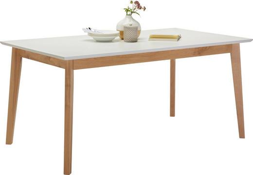 ESSTISCH Eiche rechteckig Eichefarben, Weiß - Eichefarben/Weiß, Design, Holz (160/90/75cm) - Hom`in