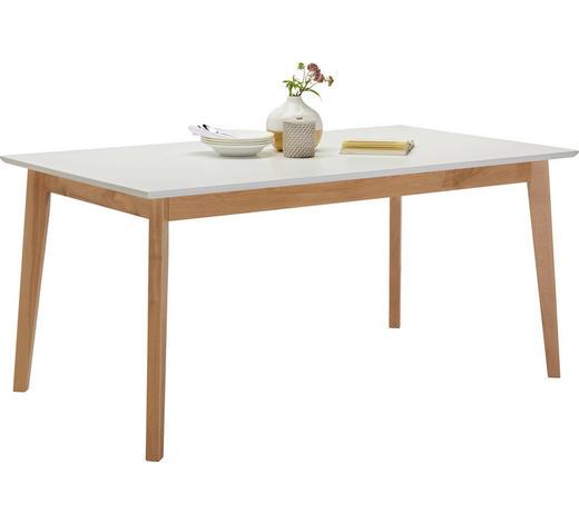 ESSTISCH Eiche rechteckig Weiß, Eichefarben  - Eichefarben/Weiß, Design, Holz (160/90/75cm) - Hom`in