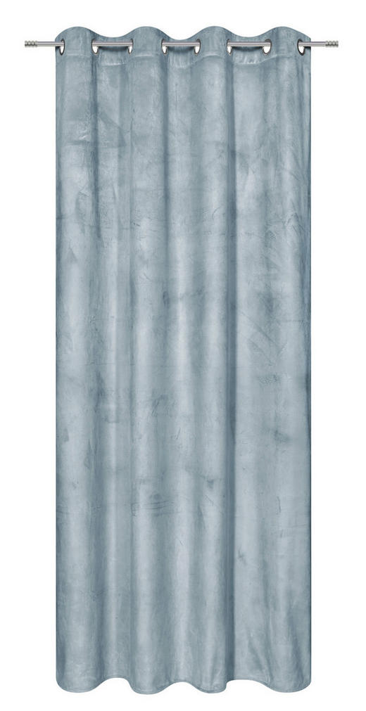 ÖSENSCHAL  blickdicht  140/245 cm - Blau, KONVENTIONELL, Textil (140/245cm) - Esposa
