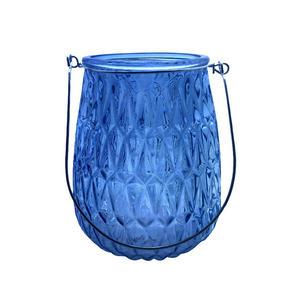 LJUSLYKTA - ljusblå, Lifestyle, metall/glas (11,4/14,8cm) - Ambia Home