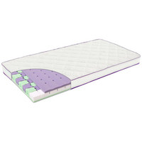 KINDERBETTMATRATZE Schmetterling - Violett/Weiß, Basics, Textil (70/140cm) - Träumeland