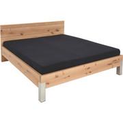 Bett 180 cm   x 200 cm   in Holz Eichefarben - Edelstahlfarben/Eichefarben, Natur, Holz/Metall (180/200cm) - Voglauer