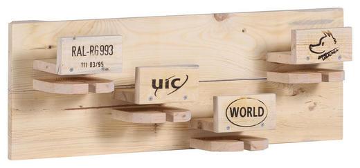 WANDREGAL massiv Naturfarben - Naturfarben, Trend, Holz (80/19/17cm) - Carryhome