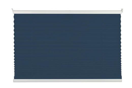 PLISSEE  halbtransparent  75/130 cm - Dunkelblau, Basics, Kunststoff (75/130cm) - Homeware