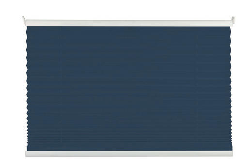 PLISSEE  halbtransparent   100/130 cm - Dunkelblau, Basics, Textil (100/130cm) - Homeware