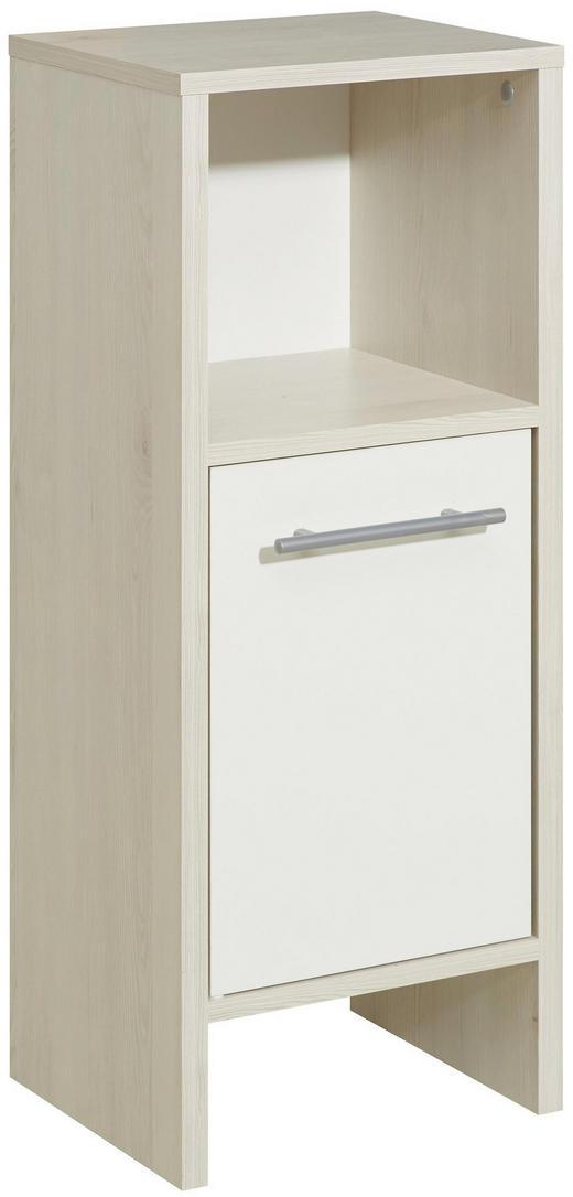 UNTERSCHRANK Weiß - Alufarben/Weiß, KONVENTIONELL, Holzwerkstoff (33,0/81,6/28,0cm) - Xora