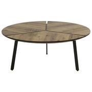COUCHTISCH in Braun, Schwarz - Schwarz/Braun, Design, Holzwerkstoff/Metall (86/35cm) - Carryhome
